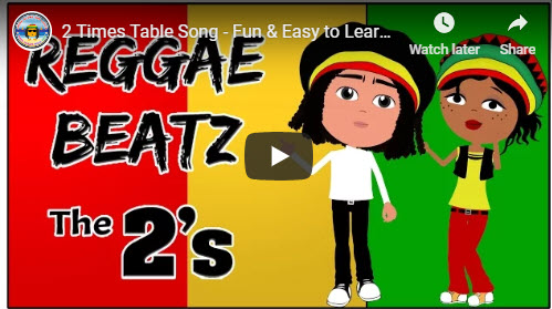 Reggae beatz the 2 times table