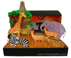 A picture of an African savanna scene