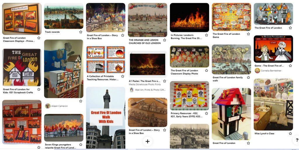 Fire of London Pinterest Board