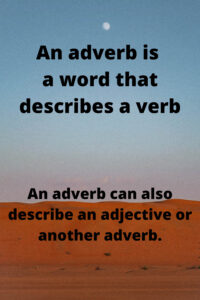 Adverb KS2 meaning